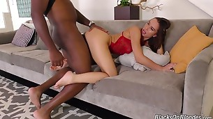 When Aidra Fox looks you directly in the eyes and tells you to jerk your little, white dick while she takes on one of the world`s biggest, black bulls, you`ll know she means it. The very beautiful Miss Fox makes her debut on the Dogfart Network by putting