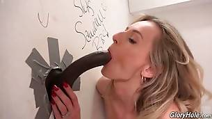 Lovely Blonde Pleasures Random Black Man 3