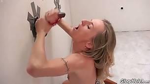 Lovely Blonde Pleasures Random Black Man 3