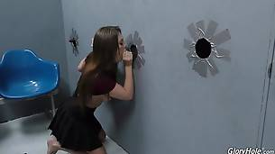 Jojo fucks these two right through the wall, too! Speaking of lunch, watch Jojo swallow two hefty shots of semen before getting back on the phone with her man to apologize for her bitchy behavior `during lunch`. Jeez...chicks these days!