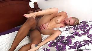 White girl get worked over from every angle and get a sloppy facial in the end!