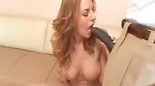 Fantastic Babe Tastes Big Black Cock 2