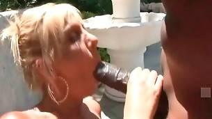 Black Stud Deeply Drills Slutty White Lady 2