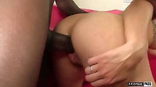 Tight Little Blonde Teen Gets Stretched Out By BBC!