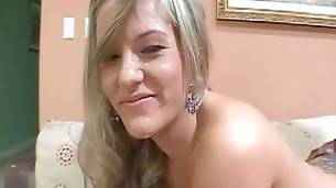 Blonde Gets Mouth And Cunt Filled With Black Dicks 3